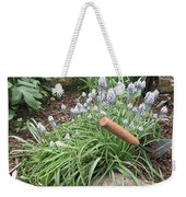 Muscari Blend Blue And White Weekender Tote Bag
