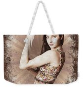 Muscle And Strength Pinup Poster Girl Weekender Tote Bag