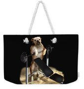 Muscle Boy Boxer Lifting Weights Weekender Tote Bag
