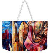 Muse Of The Long Neck In The Night City Weekender Tote Bag