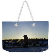 Mushers At Sunrise Weekender Tote Bag