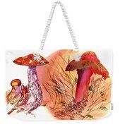 Mushroom Family Weekender Tote Bag