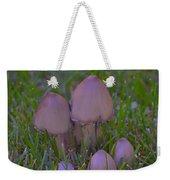 Mushrooms In Grass Weekender Tote Bag