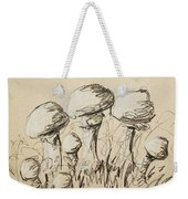 Mushrooms On Toned Paper With Charcoal Weekender Tote Bag