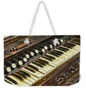 Music - Pump Organ - Antique Weekender Tote Bag