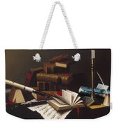 Music And Literature By William Michael Harnett Weekender Tote Bag