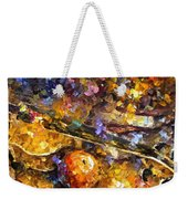 Music And Wine - Palette Knife Oil Painting On Canvas By Leonid Afremov Weekender Tote Bag