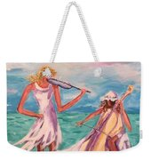 Music At The Water's Edge Weekender Tote Bag