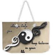 Music Balance Weekender Tote Bag
