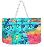 Music Is Everything In Colors Weekender Tote Bag