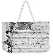 Music Manuscript, 1450 Weekender Tote Bag
