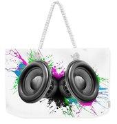 Music Speakers Colorful Design Weekender Tote Bag