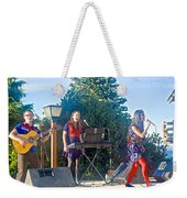 Musical Entertainers In Central Park In Bariloche-argentina Weekender Tote Bag