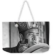 Musical Monk Bw Weekender Tote Bag