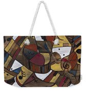 Musicality In Brown Weekender Tote Bag