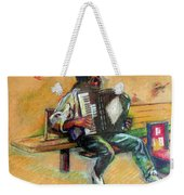 Musician With Accordion Weekender Tote Bag