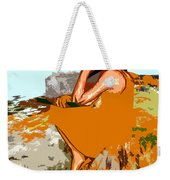 Musician With Tin Whistle Weekender Tote Bag