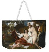 Musidora And Her Two Companions Sacharissa And Amoret At Their Bath Espied By Damon Weekender Tote Bag