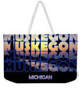 Muskegon Channel Sunset Weekender Tote Bag