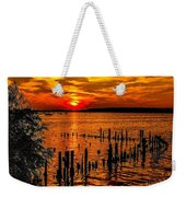 Muskegon Sunset Weekender Tote Bag
