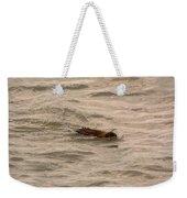 Muskrat In Lake Weekender Tote Bag