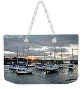Musselburgh Marina In The Sunset. Weekender Tote Bag