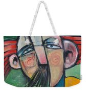 Mustached Man In Wind Weekender Tote Bag