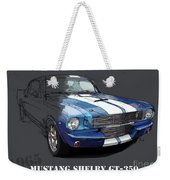 Mustang Shelby Gt-350, Blue And White Classic Car, Gift For Men Weekender Tote Bag