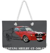 Mustang Shelby Gt500 Red, Handmade Drawing, Original Classic Car For Man Cave Decoration Weekender Tote Bag