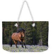 Mustang Stallion And Lupines Weekender Tote Bag