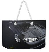 Mustang With Flames Weekender Tote Bag