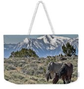 Mustangs In The Sierra Nevada Mountains Weekender Tote Bag
