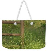 Mustard Grass And Fence At Entrance To Peters Canyon Weekender Tote Bag