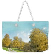 Mustard Yellow Trees And Landscape Weekender Tote Bag