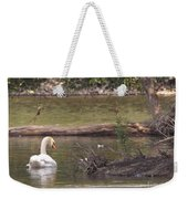 Mute Swan         St. Joe River          June         Indiana Weekender Tote Bag