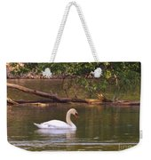 Mute Swan     Image 2      Spring        St. Joe River          Indiana Weekender Tote Bag