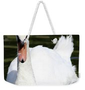 Mute Swan Feathers Of Lake Junaluska North Carolina  Weekender Tote Bag