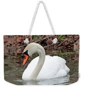 Mute Swan Reflecting Weekender Tote Bag