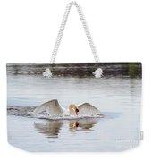 Mute Swan Swim Weekender Tote Bag