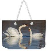 Mute Swans Drinking Weekender Tote Bag