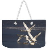 Mute Swans In Flight Weekender Tote Bag