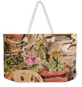 My Back Porch Partial Weekender Tote Bag