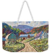 My Country My Village Weekender Tote Bag