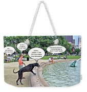 My Dog Tiny Weekender Tote Bag by Brian Wallace