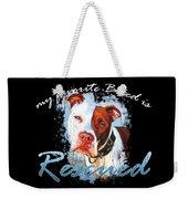 My Favorite Breed Is Rescue Watercolor 3 Weekender Tote Bag