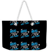 My Goal Is To Deny Yours Goalie Pattern Weekender Tote Bag