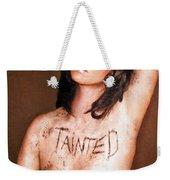 My Invisible Tattoos - Self Portrait Weekender Tote Bag by Jaeda DeWalt