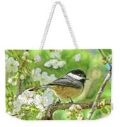 My Little Chickadee In The Cherry Tree Weekender Tote Bag
