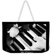 My Piano Bw Fine Art Photography Print Weekender Tote Bag