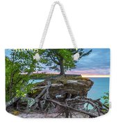 My Roots Are Strong Chapel Rock -6121 Pictured Rocks Michuigan Weekender Tote Bag